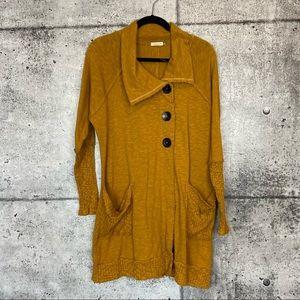 Chalet et Ceci // Mustard Yellow Cardigan Sweater